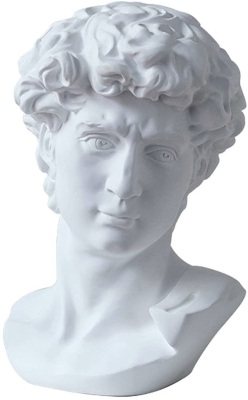Cabeza del David de Miguel Ángel Reproducción
