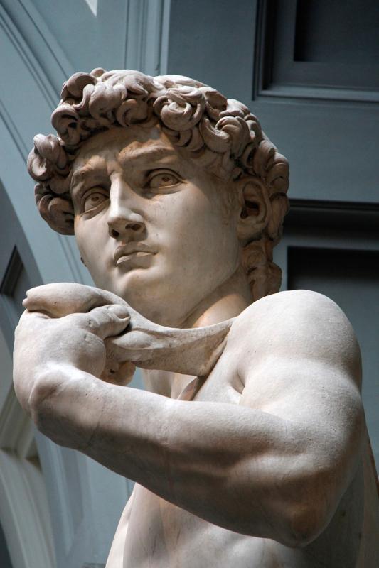 Detalle de la escultura de Michelangelo