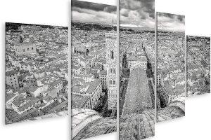 islandburne Vista panorámica monocromática de Florencia desde el Duomo