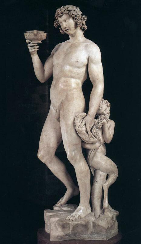Baco de Michelangelo del Museo Bargello