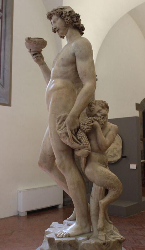 Baco de Michelangelo Museo Bargello Sátiro