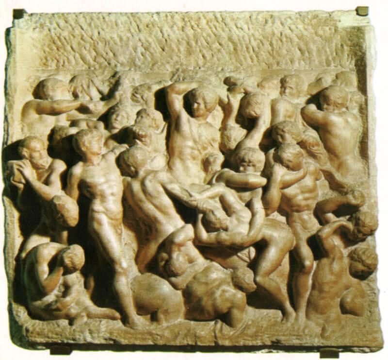 Batalla de los Centauros relieve de Miguel Ángel