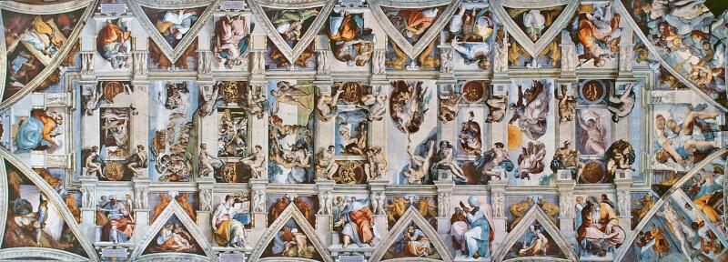Techo de la Capilla Sixtina Michelangelo Buonarroti