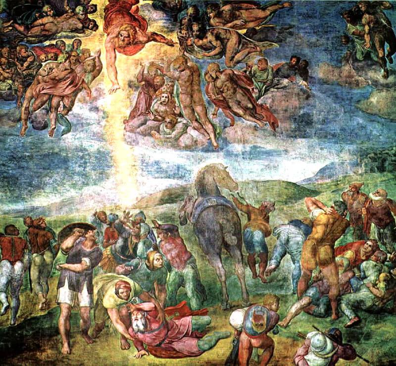 Conversión de San Pablo Michelangelo Buonarroti Capilla Paulina