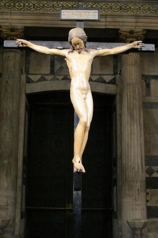 Crucifijo de la Iglesia del Santo Spirito de Florencia Miguel Angel