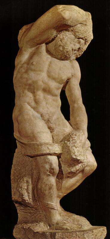 Michelangelo Esclavo Barbudo Accademia Florencia