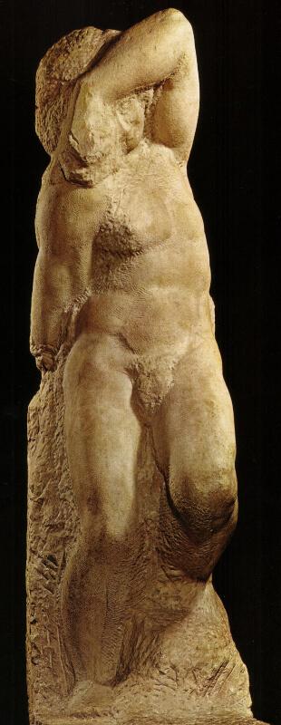 Esclavo Joven Miguel Ángel Galería de la Accademia de Florencia