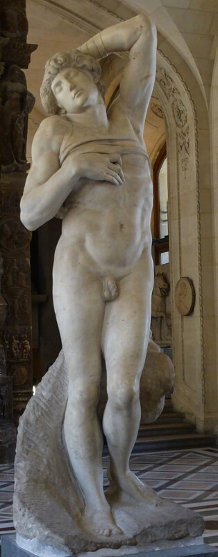 Esclavo moribundo de Miguel Ángel Museo del Louvre París