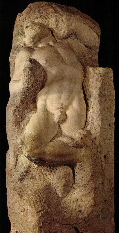 Esclavo despertándose de Miguel Ángel en la Academia de Florencia