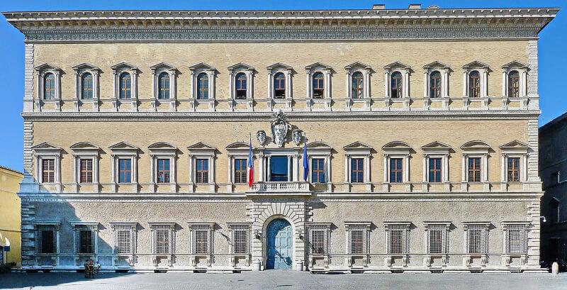 Palazzo Farnese Fachada de Michelangelo Buonarroti