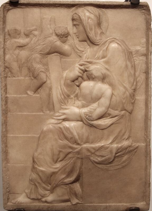 Madonna della Scala de Michelangelo Casa Buonarroti