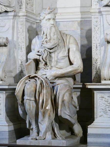 Moisés de Michelangelo en San Pietro in Vincoli
