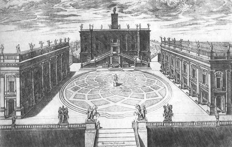 Piazza del Campidoglio Roma Michelangelo
