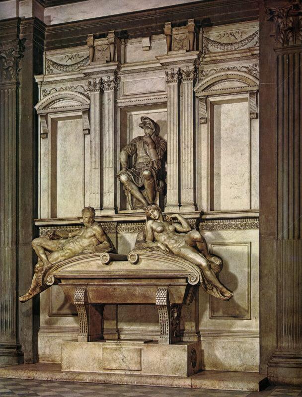 La Sacristía Nueva de San Lorenzo de Miguel Ángel antes de la restauración