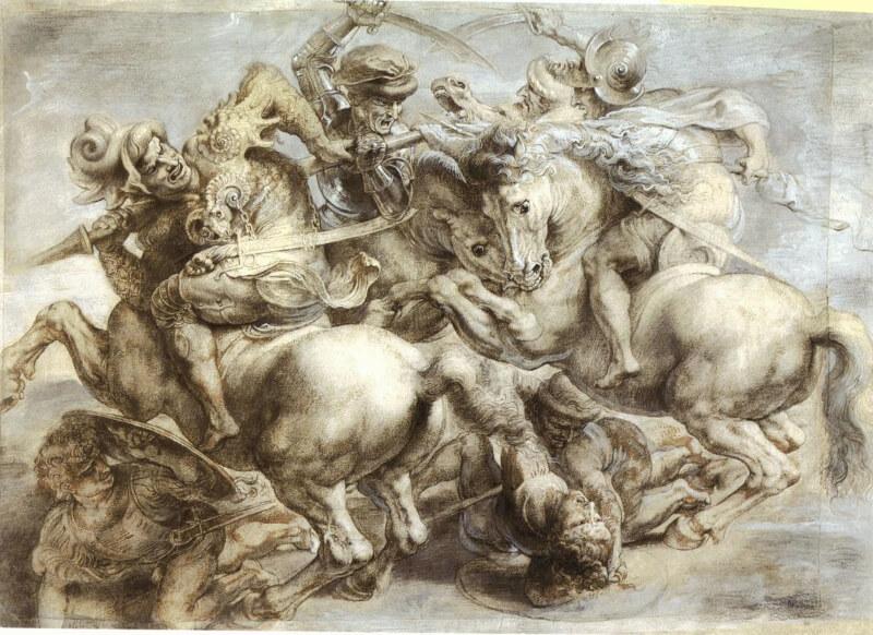 Batalla de Anghiari de Leonardo da Vinci copia de Rubens