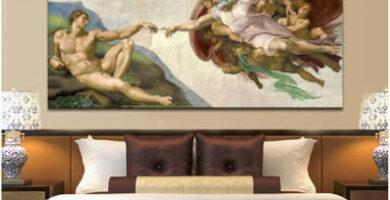 Capilla Sixtina Fresco de Miguel Ángel, Creación de Adán A&D