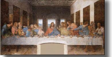 Copia Pintura linezo Última Cena Leonardo ArtWorks Decor