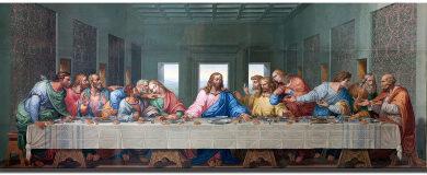 Cuadro sobre lienzo Última Cena de Leonardo Fajeminart