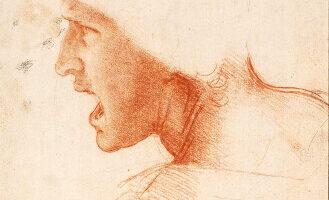 Detalle del dibujo de la Batalla de Anghiari. Impresión sobre lienzo, Spiffing Prints
