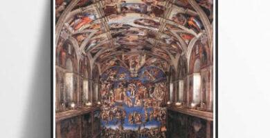 Interior Capilla Sixtina CNHNWJ Impresión sobre lienzo