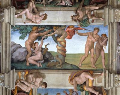 Kunst für Alle Impresión artística Expulsión de Adán Capilla Sixtina Michelangelo