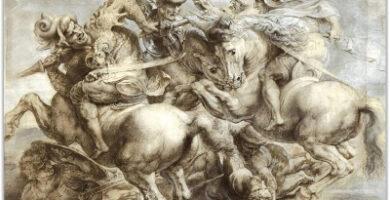 Leonardo da Vinci Batalla de Anghiari Impresión en lienzo Sanwooden