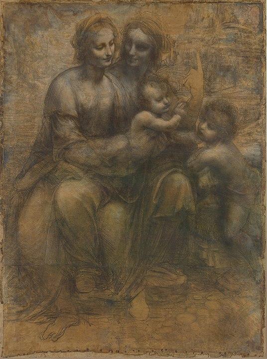 Leonardo da Vinci Cartón Santa Ana Virgen y Niño National Gallery de Londres