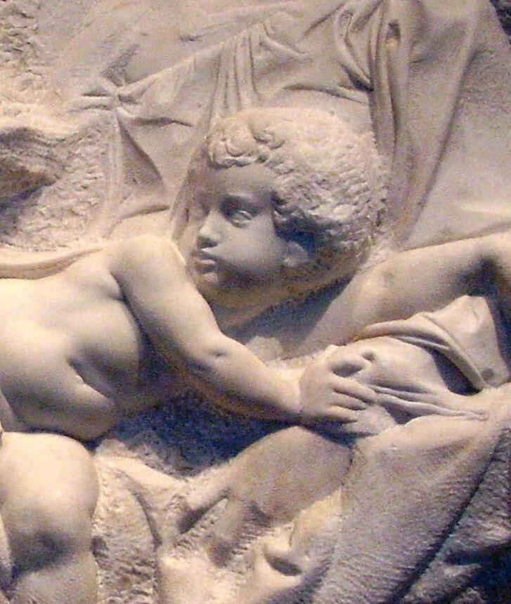 Detalle del Tondo Taddei de Royal Academy de Londres