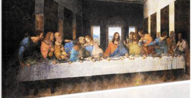 Topquadro Última Cena Leonardo Copia sobre lienzo