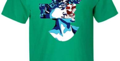 Camiseta del David Cabeza cráneo TcooLPE