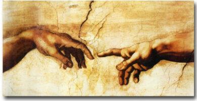 Creación de Adán Mano de Adán y Dios Michelangelo Buonarroti DHLHL