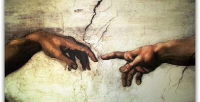 Creación de Adán en la Capilla Sixtina de Miguel Ángel Reproducción de LOIUYT