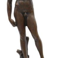 Escultura de bronce del David de Michelangelo Aubaho