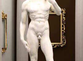 Estatua de resina David Miguel Ángel Copia AKOO