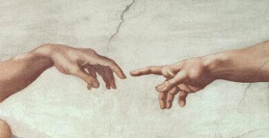 Michelangelo Mano Adán Dios Capilla Sixtina Copia Exquisite Artz