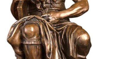 Moisés de Michelangelo LOSAYM en bronce