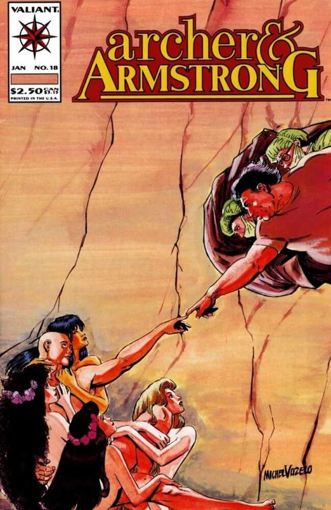 Archer And Armstrong Comic Mike Vosburg
