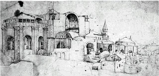Atribuido a Pieter Coecke construcción de San Pedro 1524