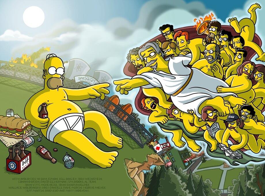Mudron y los Simpson Creación de Adán Homer