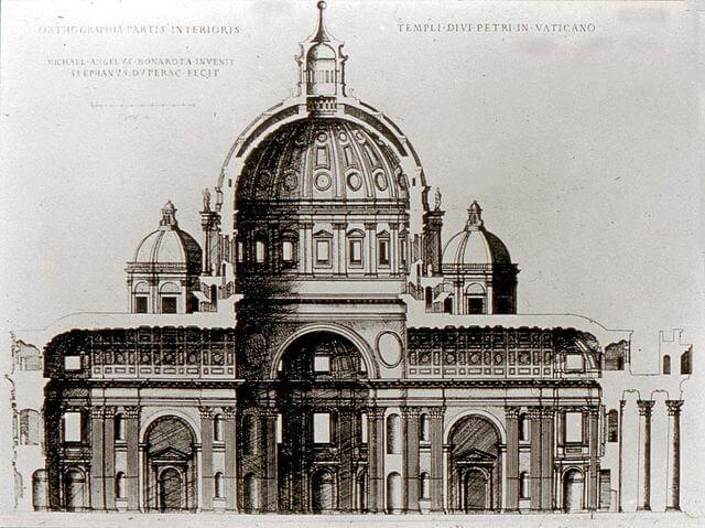 San Pedro Michelangelo Etienne Duperac