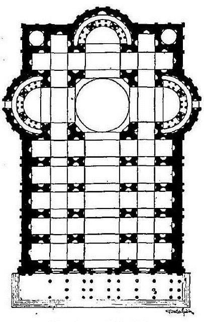 Planta de San Pedro del Vaticano Rafael Sanzio Planta