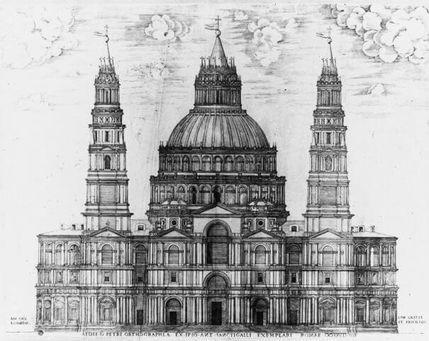 Sangallo San Pedro del Vaticano Etienne Duperac