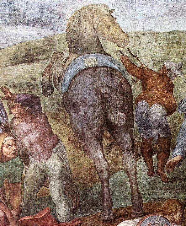 Caballo de la Conversión de San Pablo de Michelangelo