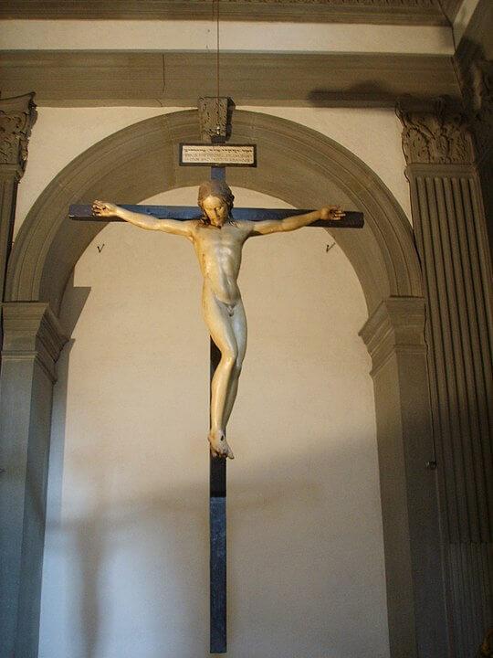 Crucifijo Santo Spirito de Florencia Miguel Ángel
