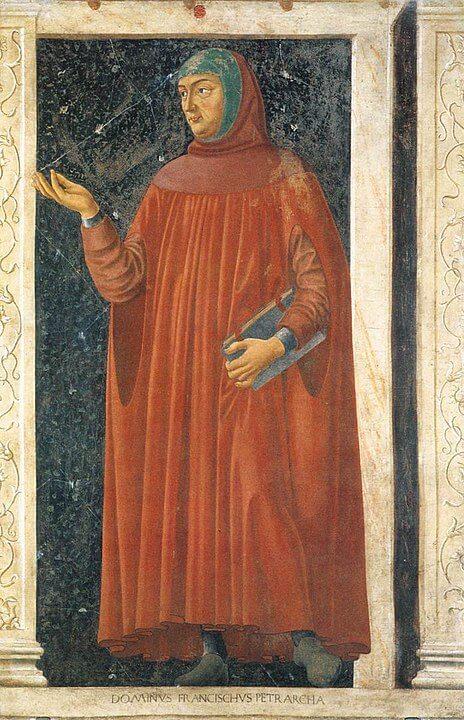 Andrea del Castagno Francesco Petrarca retrato pintura del poeta