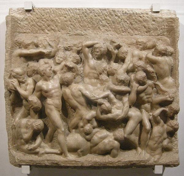 Batalla de los centauros relieve Miguel Ángel Buonarroti