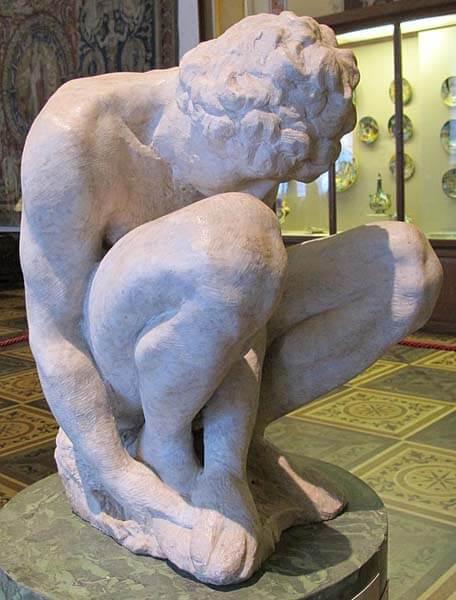 Joven  Miguel Ángel Hermitage Renacimiento Escultura