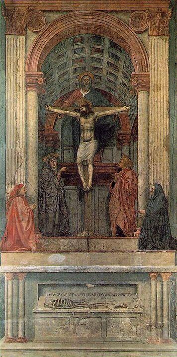 Masaccio Trinidad Santa Maria Novella Pintura Quattrocento