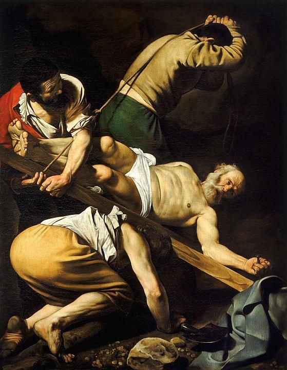 Caravaggio Crucifixión de San Pedro Barroco pintura