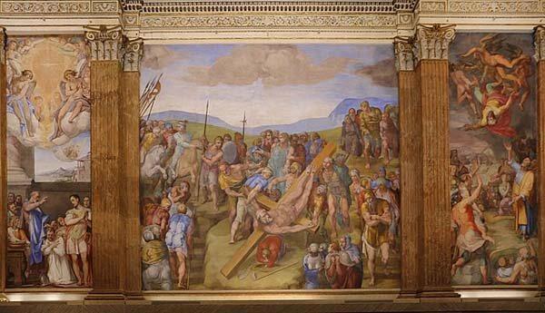Capilla Paulina Vaticano Crucifixión de San Pedro Miguel Ángel